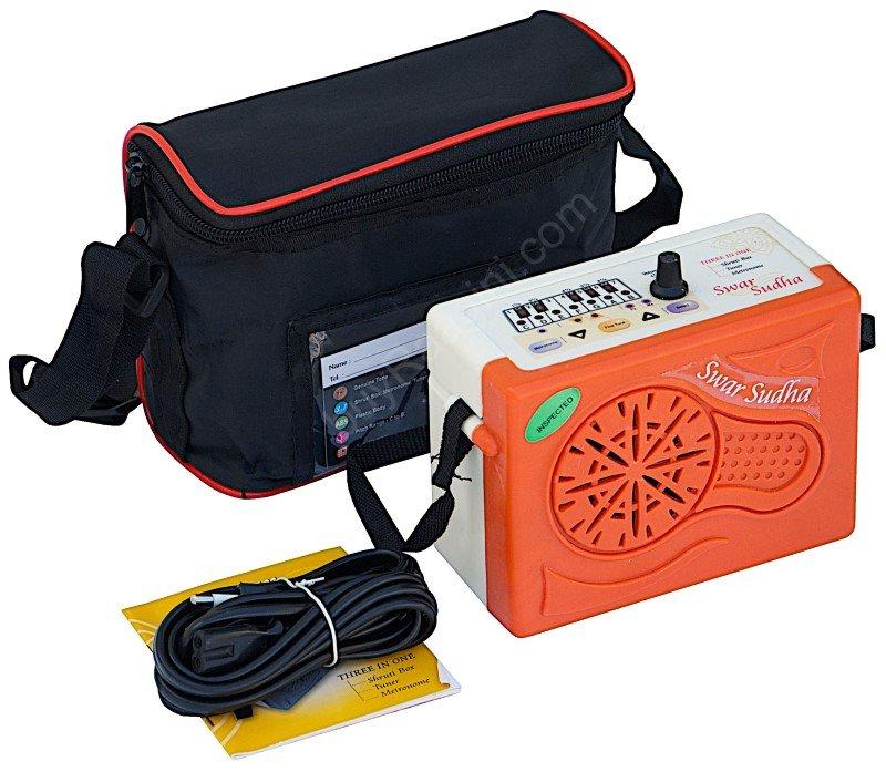 SWAR SUDHA� ELECTRONIC SHRUTI BOX/MANUAL/POWER CORD/SUR PETI/SOUND LABS/BAG/HB-2