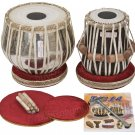 TABLA SET/VHATKAR™/PROFESSIONAL CHROME BRASS BAYAN 2½KG/SHESHAM DAYAN/INDIAN/BBE