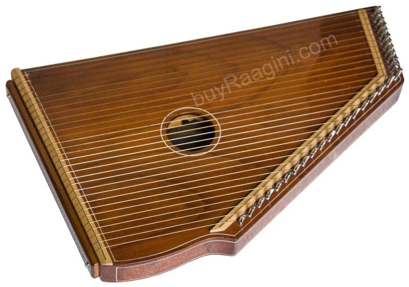MKS SWARMANDAL/NATURAL COLOUR/5 OCTAVES/21 INCHE/30 STRING/TUN/SWAR MANDAL/DID-2