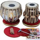 TABLA SET/TWIN-COLOR BRASS/MAHARAJA™/3KG/SHEESHAM DAYAN/ACCS./FREE SHIPPING/FD