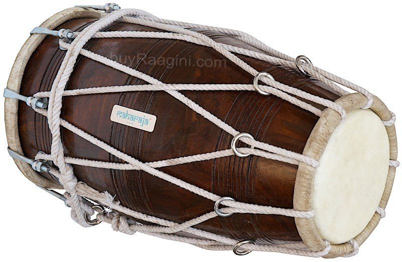 DHOLAK MAHARAJA� SPECIAL ROPE TUNED/WEDDING DHOLKI/PRO/DHOLAK/INDIAN DRUM/BBC-02