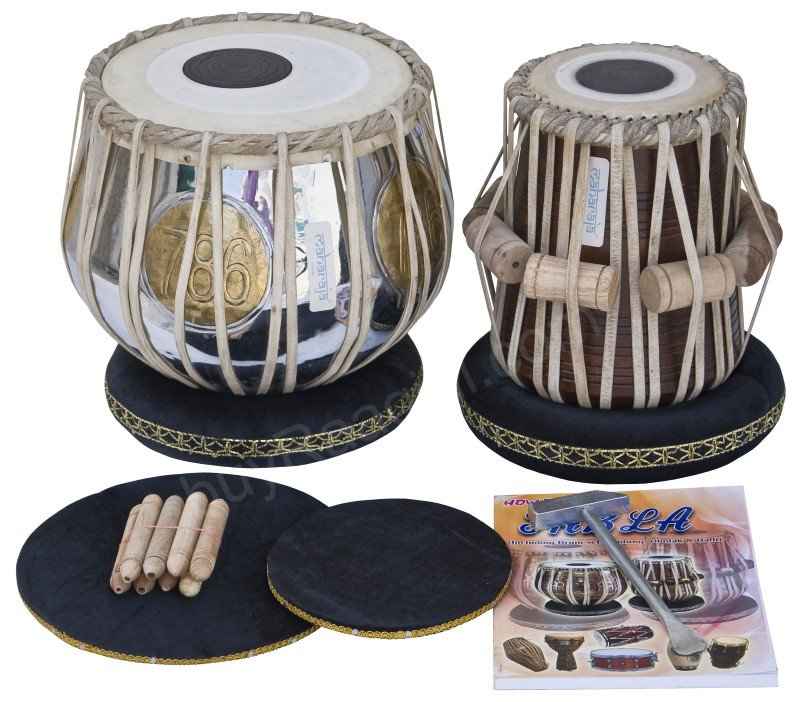 TABLA SET/MAHARAJA�/786 BRASS BAYAN 3 KG/SHEESHAM DAYAN/INDIAN DRUMS/BOOK/DCJ