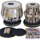 TABLA SET/MAHARAJA™/786 BRASS BAYAN 3 KG/SHEESHAM DAYAN/INDIAN DRUMS/BOOK/DCJ