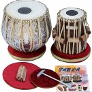 TABLA DRUM SET MAHARAJA™/NEW DESIGNER COPPER BAYAN 4.5KG/SHEESHAM DAYAN/BAG/FI-2