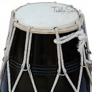MAHARAJA™ MANGO WOOD BLACK DHOLAK/ROPE TUNED/INDIAN DHOLKI/DHOLKI WITH BAG/CJB-2