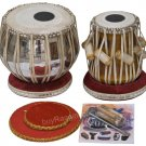 TABLA SET SHYAMAL DAS/3.5KG/BUY FLORAL CHROMED COPPER BAYAN/MAHOGANY DAYAN/ECF-2