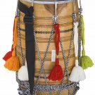 DHOL MAHARAJA™/KACHA PAKKA SHEESHAM WOOD DHOL/NATURAL COLOR/SYNT.HEADS/DRUM/DCE
