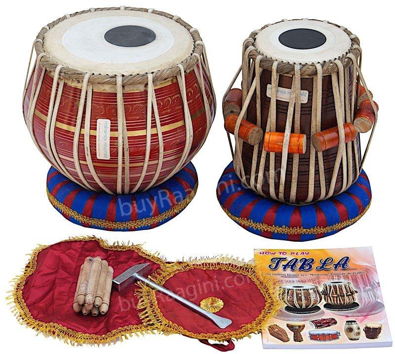 TABLA SET/MAHARAJA�/RED BRASS BAYAN 3KG/SHEESHAM DAYAN/DUGGA/INDIAN DRUMS/FC-1