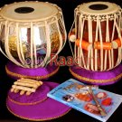 TABLA DRUM SET MAHARAJA™/SRI BRASS DRUM 3KG/SHEESHAM DAYAN/BAG+ALL ACCS./AIA-02