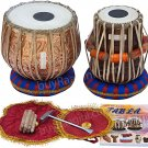 TABLA SET/MAHARAJA™/FLORAL DESIGN COPPER BAYAN 3KG/DAYAN/FREE SHIPPING/BAG/EB-2