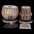 TABLA DRUM SET MAHARAJA LORD SHIVA DESIGNER COPPER BAYAN 4KG/SHISHAM DAYAN/CAA-2