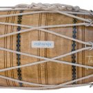 FOR SALE MAHARAJA™ MANGO WOOD DHOLAK/ROPE TUNED/INDIAN DHOLKI WITH BAG/AJE-2