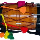 MAHARAJA™PUNJABI DHOL/NATURAL MANGO WOOD/SYNT-GOATSKIN HEADS/DHOL FOR SALE-GE-2