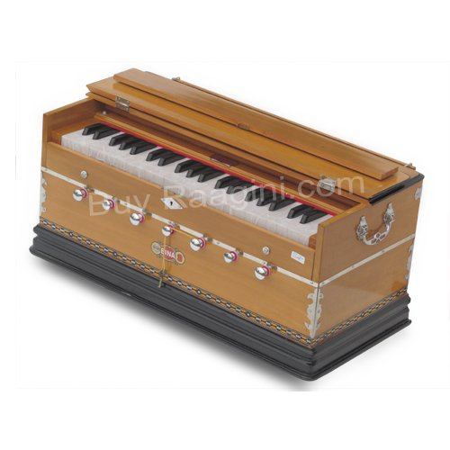 BINA� NO.9 HARMONIUM/COUPLER/42 KEY/3½ OCTAVES/MULTI-FOLD/TEAK COLOR/BAG/AGE-02
