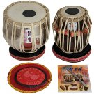 TABLA SET/VHATKAR™/CONCERT CHROME BRASS BAYAN 4KG/BLACK SHISHAM DAYAN/INDIAN/BBB