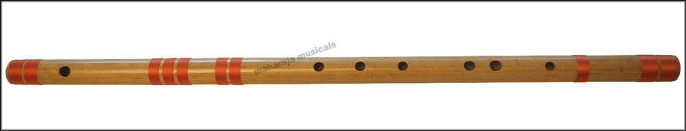FLUTE MAHARAJA|CONCERT|SCALE D NATURAL BASS 33.5 IN.|FINEST BAMBOO BANSURI/CFC-2