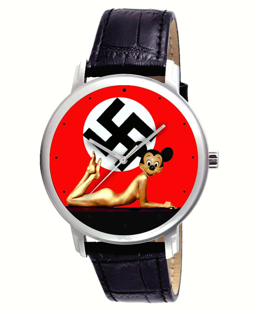 ANTI-FASCISM GERMANY CONTEMPORARY MICKEY MOUSE ART COLLECTIBLE WRIST WATCH