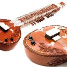 LEFT-HANDED LEFTY CARVED ROSEWOOD FUSION OF ACOUSTIC SITAR & ELECTRIC GUITAR + DVD