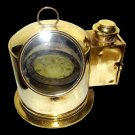 LARGE ANTIQUE 1940s LILLEY REYNOLDS WW-II BRITISH BRASS BINNACLE MARINE COMPASS