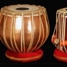 TABLA DRUM SET IN HEAVY COPPER & ROSEWOOD. FULL SIZE. w SUPERB HARDCASE + DVD