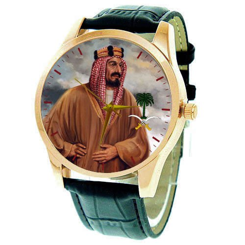 *RARE* KING IBN SAUD, FOUNDER OF SAUDI ARABIA, PORTRAIT ART COLLECTIBLE  WATCH