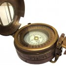 ANTIQUATED BRASS 3-INCH MINER SURVEYOR ENGINEERING PRISMATIC CALLIBRATED COMPASS