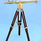 CLASSIC GILBERT LONDON 18-INCH DOUBLE TELESCOPE IN HEAVY BRASS + ROSEWOOD TRIPOD