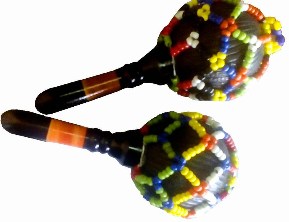 PAIR OF LOVELY BEADED MARAKKA KABBAS SHAKERS WITH UNIQUE CARNATIC MUSIC SOUND