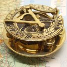 "SUPERB QUALITY CALIBRATION WEST LONDON BRASS 3"" SUNDIAL COMPASS w LIQUID LEVEL"