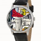 RARE 1960s POP ART ROY LICHTENSTEIN NUDE WITH RED SHIRT COLLECTIBLE WRIST WATCH