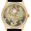 PRIZED CHRISTIANITY COLLECTIBLE ANGELICO CONVENT ART 40 mm IMPORTANT WRIST WATCH