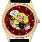 "Popeye The Sailor Man Symbolic "" I Yam What I Yam"" Vintage Comic Art Wrist Watch"