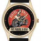 VINTAGE MOTORCYCLE BIKER ART COLLECTIBLE DOUBLE ENTENDRE SEXY  CHOPPER WATCH