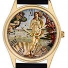 STUNNING THE BIRTH OF VENUS COLLECTIBLE RENAISSANCE ART 40 mm WRIST WATCH