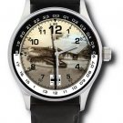 Luftwaffe Schwalbe Messerschmitt 262 Me-262 Germany Aviation Art Wrist Watch