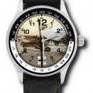 Luftwaffe Schwalbe Messerschmitt 262 Me-262 Germany Aviation Art Wrist Watch