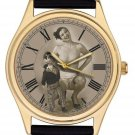 STUNNING EROTIC 50s ART NUDE VENTROQUILIST & HER DUMMY COLLECTIBLE WRIST WATCH