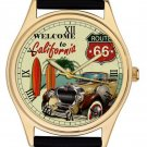 FANTASTIC VINTAGE ROUTE 66 CALIFORNIA VINTAGE HOTROD COLLECTIBLE CAR WRIST WATCH