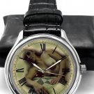 "EROTIC VINTAGE EXPIRED PRINT NUDE ART COLLECTIBLE 40 mm WRIST WATCH ""SPRING"""
