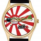 Zero A6M Mitusbishi Japanese WW-II Nippon Air Force Aviation Art Wrist Watch