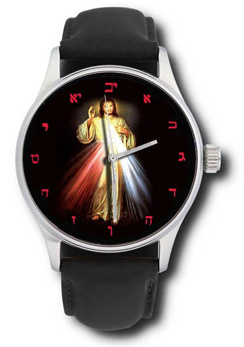 THE BLESSING OF CHRIST, CHURCH ART HEBREW DIAL CHRISTIANITY COLLECTIBLE WATCH