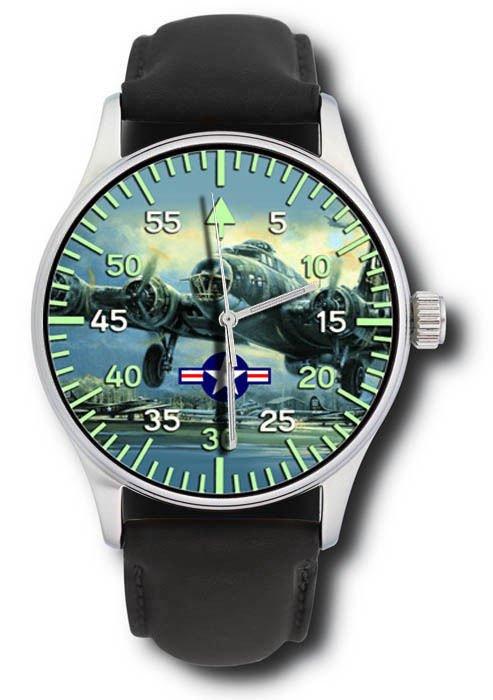 Original USAAF Art B-17 Flying Fortress World War WW2 Bomber Wrist Watch