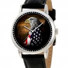 USA PATRIOTIC ART EAGLE DRAPED WITH STARS & STRIPES BOY SCOUT EAGLE SCOUT WATCH