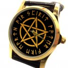 RARE WICCAN WITCH PENTAGRAM COLLECTIBLE MYSTIC SYMBOLISM WRIST WATCH