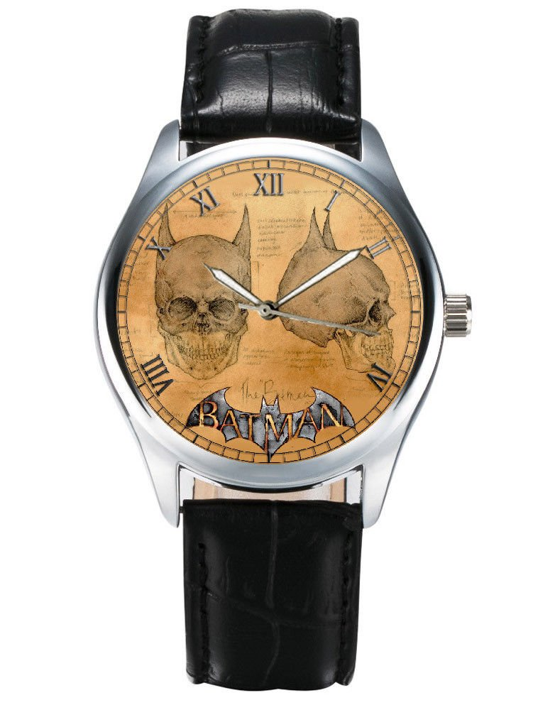 LEONARDO DA VINCI BATMAN SKULL ART CLASSIC COMIC ART COLLECTIBLE WRIST WATCH