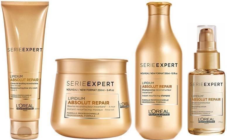 Loreal Professionnel Lipidium Absolut Repair Shampoo/Masque/Serum/Blow Dry Cream