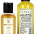 KHADI NATURAL SWEET ALMOND OIL 100 ML / 210 PURE ALMOND MASSAGE OIL