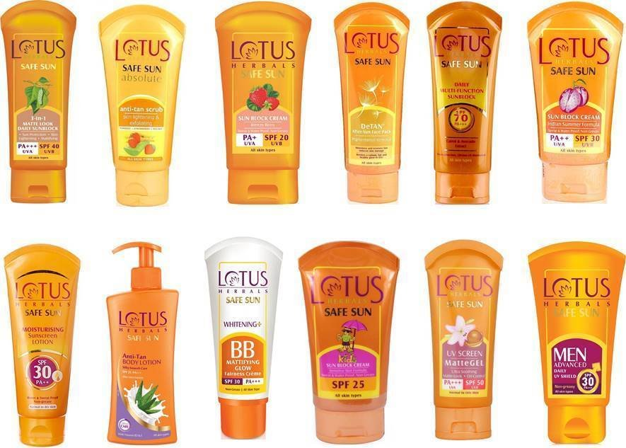 Lotus Herbal Sun Care Range Choose from 12 With SPF