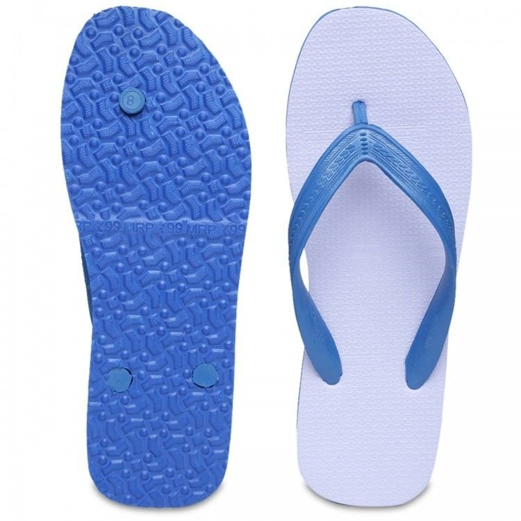 Paragon Casual Blue & White Rubber Flip Flops (Chappal) Choose From 5 Sizes