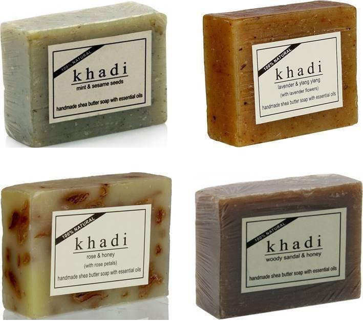 KHADI NATURAL HERBAL HANDMADE SHEABUTTER & COCOABUTTER SOAP 100 gm